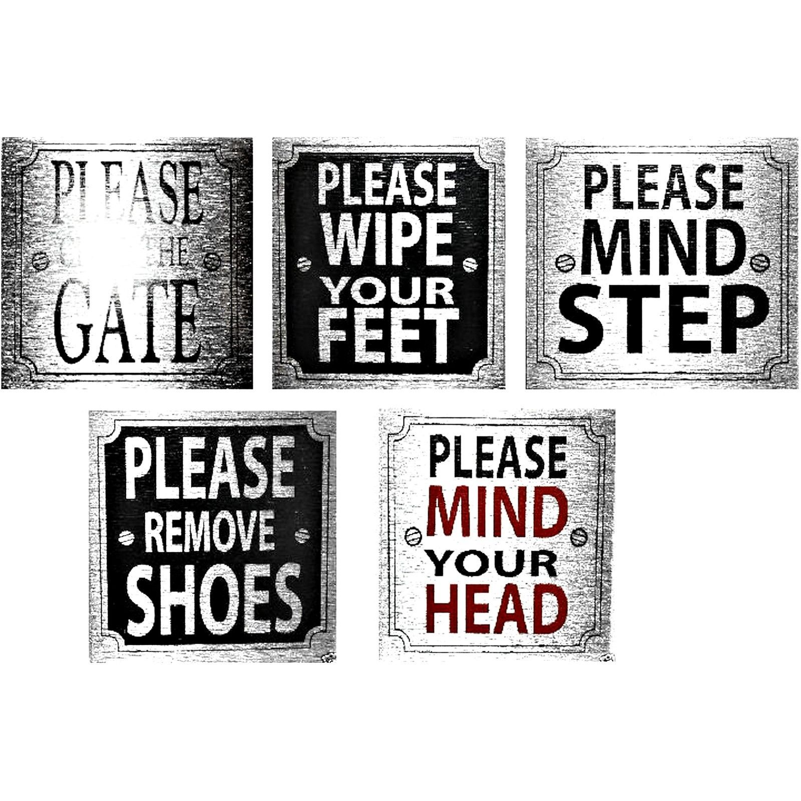 PLEASE SIGNS for home office or business 8cm X 8cm